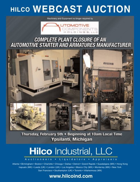 WEBCAST AUCTION - Hilco Industrial