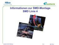 Informationen zur SMD-Montage SMD Linie 4