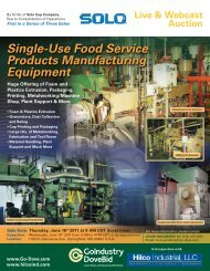 Single-Use Food Service Products Manufacturing Equipment