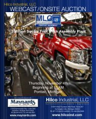 webcast/onsite auction – auctioneers • liquidators - Hilco Industrial