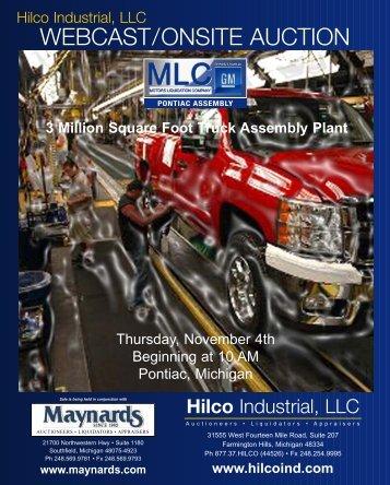 webcast/onsite auction – auctioneers • liquidators - Hilco Industrial