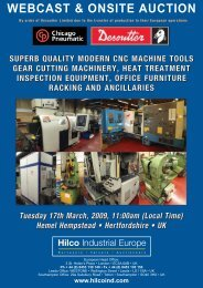 Webcast & onsite auction - Hilco Industrial