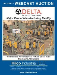 Hilco Industrial, LLC WEBCAST AUCTION