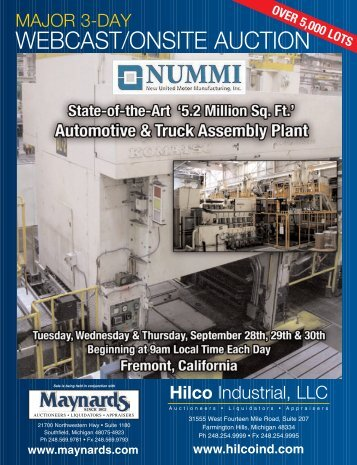 Major 3-day webcast/onsite auction - Hilco Industrial