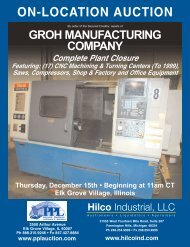 ON-LOCATION AUCTION - Hilco Industrial
