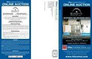 ONLINE AUCTION ONLINE AUCTION - Hilco Industrial