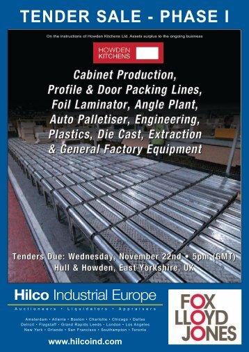 tender sale - Hilco Industrial