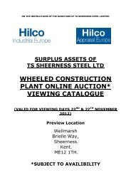 wheeled construction plant online auction* viewing ... - Hilco Industrial