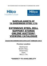 extensive steel mill support stores online auction ... - Hilco Industrial