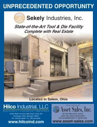 State-of-the-Art Tool & Die Facility - Hilco Industrial