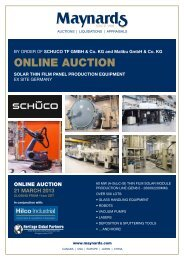 Auction Brochure - Liquidation Auction - Equipment Auctions| HGP ...