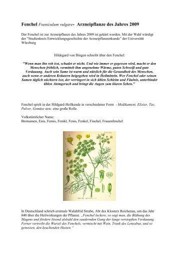 Fenchel - Hildegard von Bingen Seminare und Veranstaltungen