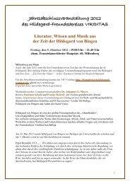 Jahresabschlussveranstaltung 2012 - Hildegard von Bingen ...