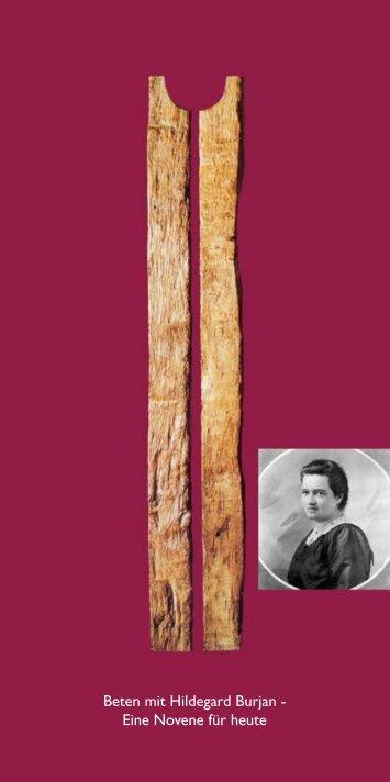 Beten mit Hildegard Burjan - Eine Novene für heute