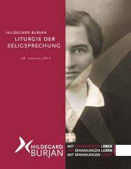Liturgie der Seligsprechung 29. Jänner 2012 - Hildegard Burjan