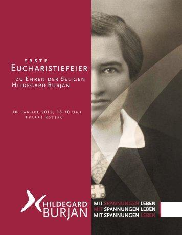 Liturgie der Seligsprechung 30. Jänner 2012 - Hildegard Burjan