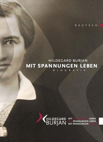 mit spannungen leben - Hildegard Burjan