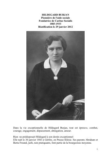 Hildegard Burjan - Gazette