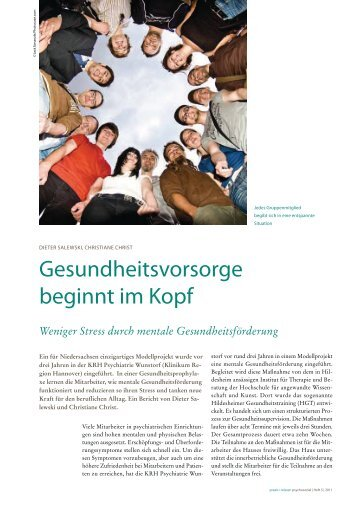 praxis • wissen psychosozial - Hildesheimer Gesundheitstraining