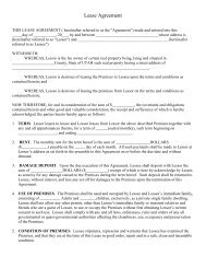 Lease Agreement - Hill Air Force Base