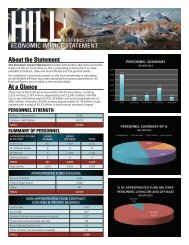 About the Statement At a Glance - Hill Air Force Base