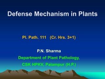 Pl Path 111- DEFENSE IN PLANTS