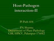 Lect. 5 Host Pathogen interaction-II