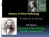Lecture No. 3:- Pl Path 111- History of Plant Pathology
