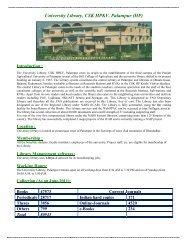 University Library, CSK HPKV, Palampur (HP) - CSK Himachal ...