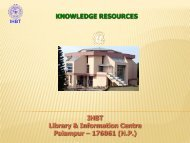 How to access IHBT (CSIR) Library Resources and Services