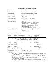 Curriculum vitae - CSK Himachal Pradesh Agricultural University