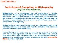 Technique of Compiling a Bibliography