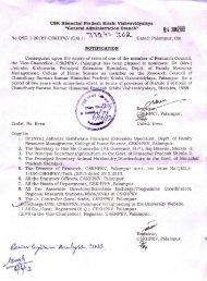 Research Council - CSK Himachal Pradesh Agricultural University