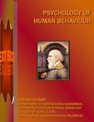 Ext 502: Psychology of Human Behaviour - CSK Himachal Pradesh ...