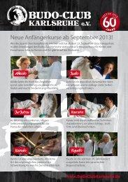 Neue Anfängerkurse ab September 2013! - Budo-Club Karlsruhe eV