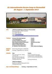23. Internationales Karate-Camp in Fürstenfeld - SPORTUNION ...