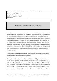 Partizipation in der Einwanderungsgesellschaft - Ministerium für ...