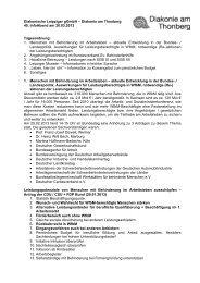 Protokoll 45. Infoabend - Diakonie am Thonberg