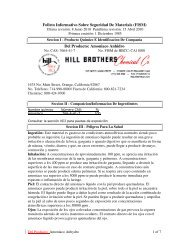 Del Producto: Amoniaco Anhidro - Hill Brothers Chemical Co.