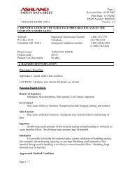 SAFETY DATA SHEET - Hill Brothers Chemical Co.