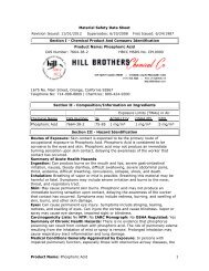 Chemical Product - Hill Brothers Chemical Co.