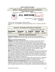 Product Name - Hill Brothers Chemical Co.