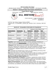 Product Name: Xylene 1 of 5 - Hill Brothers Chemical Co.