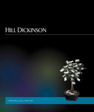 PENSIONS LEGAL SERVICES - Hill Dickinson