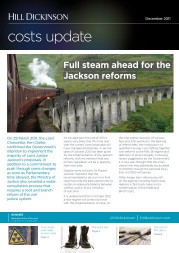 Costs update Dec 2011.indd - Hill Dickinson
