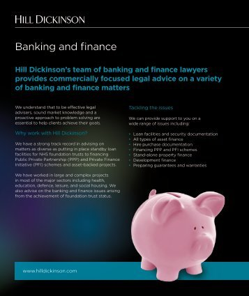Banking and finance for the NHS - Hill Dickinson