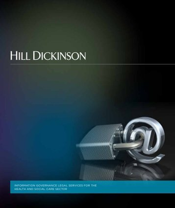 Information governance brochure - Hill Dickinson