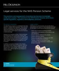 Legal services for the NHS Pension Scheme - Hill Dickinson