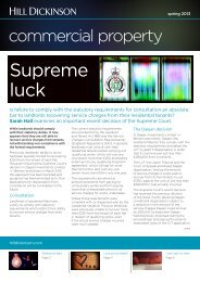 Commercial property newsletter spring 2013 - Hill Dickinson