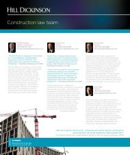 Construction law team - Hill Dickinson